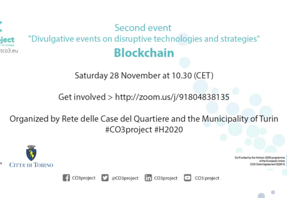 Divulgative events on disruptive technologies and strategies: Blockchain